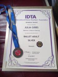 6 Ballet silver medal